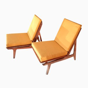 Mid-century Armchairs FD 172 Lounge Chairs by Peter Hvidt & Orla Mølgaard-Nielsen for France & Søn / France & Daverkosen, Set of 2