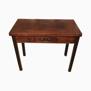 Antique George II Cuban Mahogany Tea Table