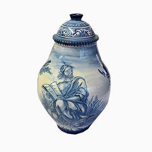 Jarrón vintage grande de cerámica de V. Mazzotti