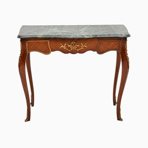 Antique French Marble Top Console Table, 1950s