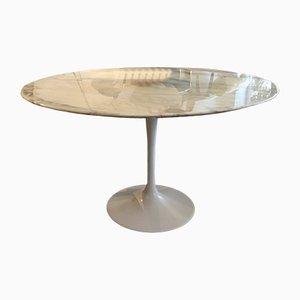 Mesa de comedor Tulip vintage de mármol de Eero Saarinen para Knoll International, años 70