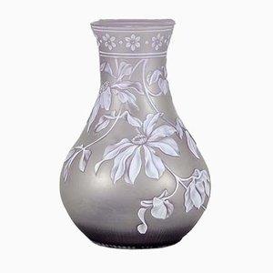 Antike Cameo Vase in Violett von Thomas Webb & Sons