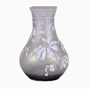Antique Lilac Cameo Vase by Thomas Webb & Sons