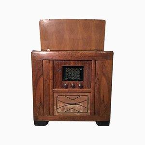 Schrank mit Radio & Plattenspieler von CGE, 1930er