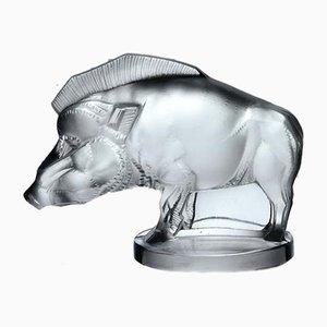 Vintage Wildschweinskulptur von René Lalique, 1929