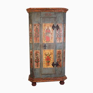 19th-Century Czech Painted Armoire, 1836