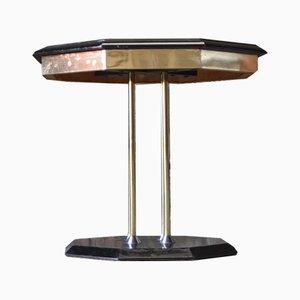 Tavolino esagonale in stile Hollywood Regency, anni '70