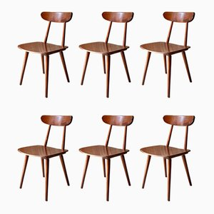 Vintage Bistro Chairs from Hiller, 1950s, Set of 6