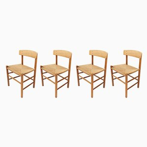 J39 Dining Chairs by Børge Mogensen for Fredericia Furniture , 1961, Set of 4