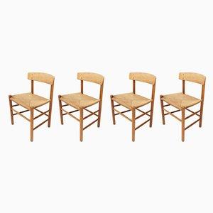 Sedie da pranzo J39 di Børge Mogensen per Fredericia Furniture, 1961, set di 4