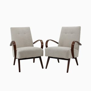 Vintage Bentwood Lounge Chairs from TON, 1960s, Set of 2