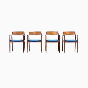 Dänische Armlehnstühle aus Teak, 1960er, 4er Set