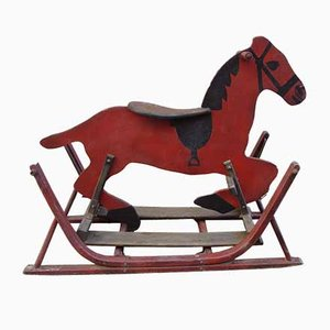 Antique Red Rocking Horse