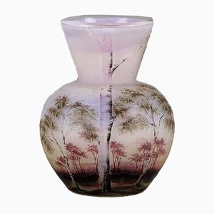 Antique Paysage Rosé Vase from Daum Nancy