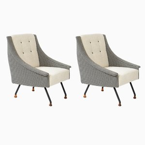 Mid-Century Italian Lounge Chairs from Galimberti F.lli, 1960s, Set of 2