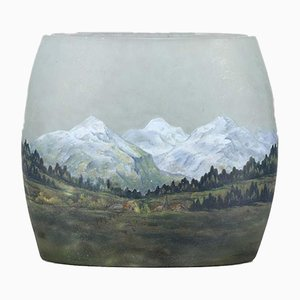Antike Vase mit Alpenmotiv von Daum Nancy