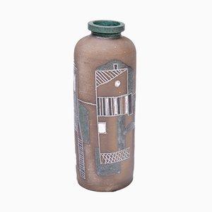 Mid-Century Modern Steingut Vase, 1960er