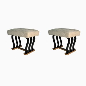 Mid-Century Italian Ottomans from Fagioli, 1948, Set of 2