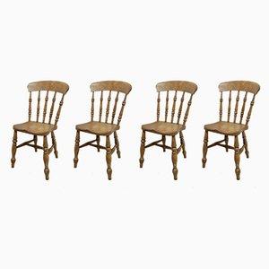 Antike Windsor Esszimmerstühle, 4er Set