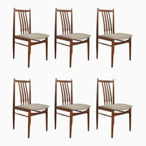Dänische Mid-Century Teak Esszimmerstühle, 1960er, 6er Set