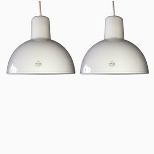Vintage Danish Skagerrak Pendant Lamps by Anja Kjær for Holmegaard, 1993, Set of 2