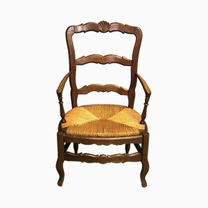 Antique Oak Lounge Chair