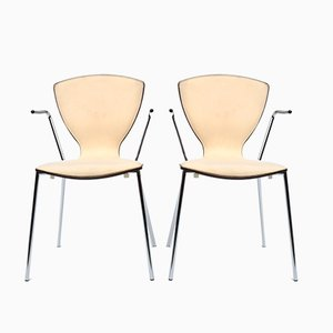 Danish Dining Chairs by Erik Jorgensen and Per Jepsen Aagaard for Danerka, 1960s, Set of 2