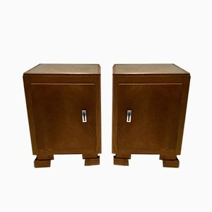 Tables de Chevet Style Art Déco Vintage, années 40, Set de 2