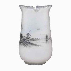 Antike Vase mit niederländischem Seemotiv von Daum Frères