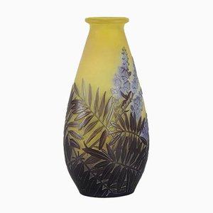 Antique Floral Vase by Emile Gallé