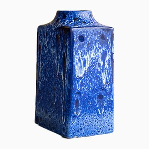Vinage Blue Vase from ES Keramik, 1970s