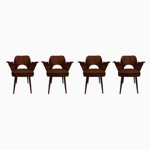 Sessel von Oswald Haerdtl für Ton, 1950er, 4er Set