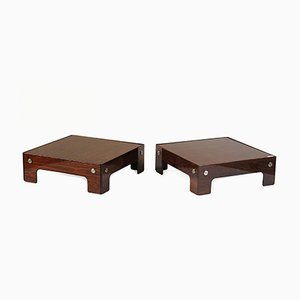 Vintage Rosewood Low Tables by Sergio Rodrigues, Set of 2