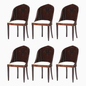 Vintage Beistellstühle aus Palisander, 6er Set