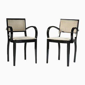 Vintage Art Déco Armlehnstühle aus Palisander, 2er Set