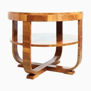 Art Deco Walnut Coffee Table, 1930s