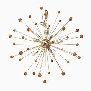 Lustre Sputnik Multicolore en Verre Murano d'Italian Light Design