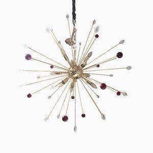 Lámpara de araña Sputnik de cristal de Murano multicolor de Italian Light Design