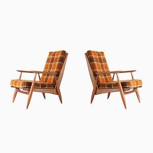 Französische Sessel von Marvelus, 1950er, 2er Set