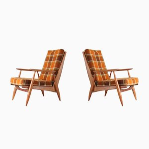 French Lounge Chairs from Marvelus, 1950s, Set of 2