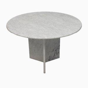 Italienischer Esstisch aus weißem Carrara-Marmor, 1970er