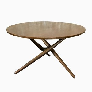 Tavolino da caffè Mid-Century in teak e quercia di Jürg Bally per Wohnbedarf