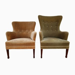 Danish Lounge Chairs by Georg Kofoed for Georg Kofoeds Møbeletablissement, 1950s, Set of 2