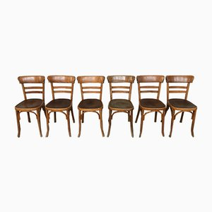 Vintage Bistro Chairs from Fischel, Set of 6