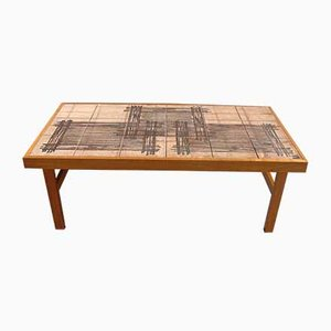 Danish Tiled Coffee Table from Trioh, 1960s