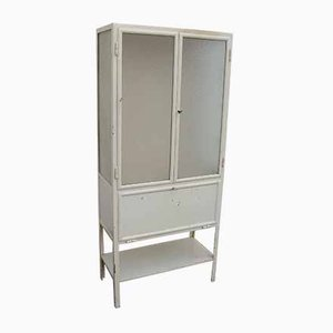 Metal and Glass Medical Cabinet, 1920s