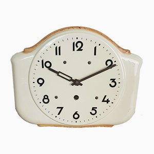 Art Deco Ceramic Kitchen Wall Clock from Foreign, 1930s