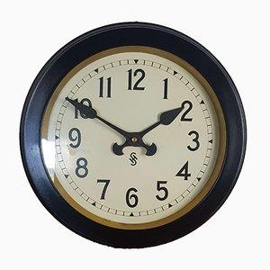Horloge d'Usine Industrielle Art Déco de Siemens, années 30