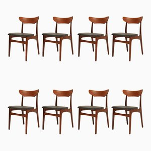 Danish Dining Chairs by Schiønning & Elgaard for Randers Møbelfabrik, 1960s, Set of 9