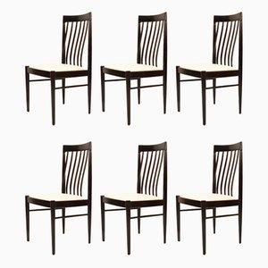 Dänische Esszimmerstühle mit Gestell aus Mahagoni von H.W. Klein für Bramin, 1970er, 6er Set